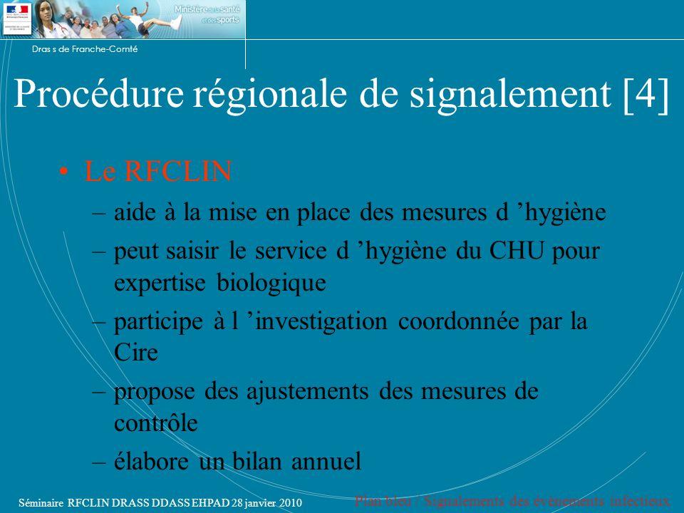 Procédure régionale de signalement [4]